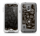 The Black and White Cave Symbols Skin for the Samsung Galaxy S5 frē LifeProof Case