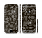 The Black and White Cave Symbols Sectioned Skin Series for the Apple iPhone 6s