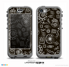 The Black and White Cave Symbols Skin for the iPhone 5c nüüd LifeProof Case