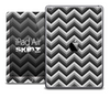 The Black and White Chevron Skin for the iPad Air