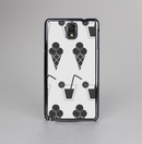 The Black and White Icecream and Drink Pattern Skin-Sert Case for the Samsung Galaxy Note 3