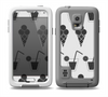 The Black and White Icecream and Drink Pattern Skin for the Samsung Galaxy S5 frē LifeProof Case