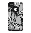The Black and White Lace Design Skin for the iPhone 4-4s OtterBox Commuter Case