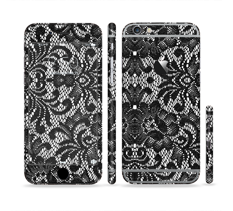 The Black and White Lace Pattern10867032_xl Sectioned Skin Series for the Apple iPhone 6s