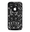 The Black and White Lace Pattern10867032_xl Skin for the iPhone 4-4s OtterBox Commuter Case