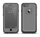 The Black and White Opposite Stripes Apple iPhone 6/6s LifeProof Fre Case Skin Set