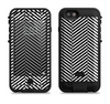 The Black and White Opposite Stripes Apple iPhone 6/6s LifeProof Fre POWER Case Skin Set