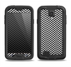 The Black and White Opposite Stripes Samsung Galaxy S4 LifeProof Fre Case Skin Set