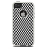 The Black and White Opposite Stripes Skin For The iPhone 5-5s Otterbox Commuter Case