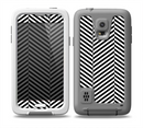 The Black and White Opposite Stripes Skin for the Samsung Galaxy S5 frē LifeProof Case
