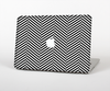 The Black and White Opposite Stripes Skin for the Apple MacBook Pro 13""