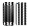 The Black and White Opposite Stripes Skin for the Apple iPhone 5c