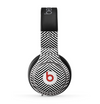 The Black and White Opposite Stripes Skin for the Beats by Dre Pro Headphones