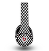 The Black and White Opposite Stripes Skin for the Original Beats by Dre Studio Headphones