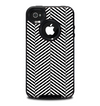 The Black and White Opposite Stripes Skin for the iPhone 4-4s OtterBox Commuter Case