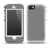 The Black and White Opposite Stripes Skin for the iPhone 5-5s OtterBox Preserver WaterProof Case