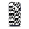 The Black and White Opposite Stripes Skin for the iPhone 5c OtterBox Commuter Case