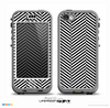 The Black and White Opposite Stripes Skin for the iPhone 5c nüüd LifeProof Case