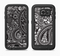The Black and White Paisley Pattern V6 Full Body Samsung Galaxy S6 LifeProof Fre Case Skin Kit