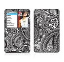 The Black and White Paisley Pattern V6 Skin For The Apple iPod Classic