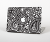 The Black and White Paisley Pattern V6 Skin for the Apple MacBook Pro Retina 15""