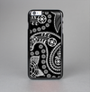 The Black and White Paisley Pattern v14 Skin-Sert Case for the Apple iPhone 6 Plus