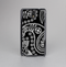 The Black and White Paisley Pattern v14 Skin-Sert Case for the Samsung Galaxy Note 3