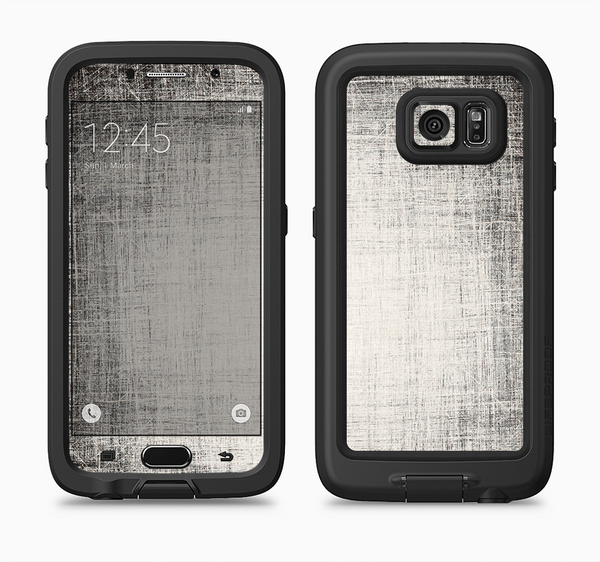 The Black and White Scratched Texture Full Body Samsung Galaxy S6 LifeProof Fre Case Skin Kit