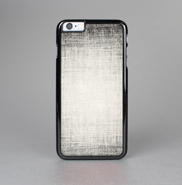 The Black and White Scratched Texture Skin-Sert Case for the Apple iPhone 6 Plus