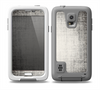The Black and White Scratched Texture Skin for the Samsung Galaxy S5 frē LifeProof Case