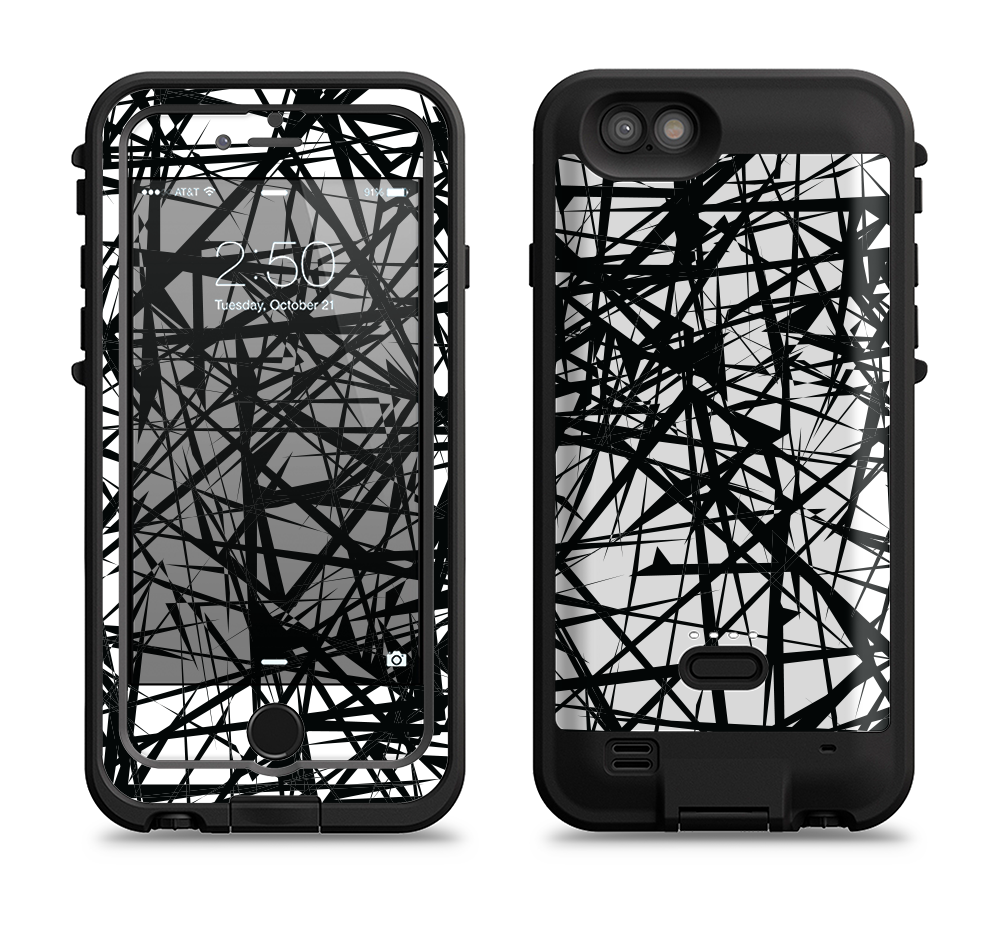 official photos cac97 1b68b The Black and White Shards iPhone 6/6s Plus LifeProof Fre POWER Case Skin  Kit