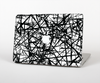 The Black and White Shards Skin for the Apple MacBook Pro 13""