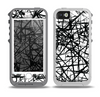 The Black and White Shards Skin for the iPhone 5-5s OtterBox Preserver WaterProof Case