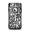 The Black and White Snow Leopard Pattern Apple iPhone 6 Otterbox Commuter Case Skin Set