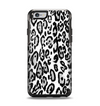 The Black and White Snow Leopard Pattern Apple iPhone 6 Otterbox Symmetry Case Skin Set
