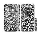 The Black and White Snow Leopard Pattern Sectioned Skin Series for the Apple iPhone 6