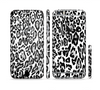 The Black and White Snow Leopard Pattern Sectioned Skin Series for the Apple iPhone 6 Plus