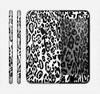The Black and White Snow Leopard Pattern Skin for the Apple iPhone 6