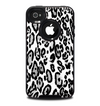 The Black and White Snow Leopard Pattern Skin for the iPhone 4-4s OtterBox Commuter Case