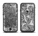 The Black and White Spotted Hearts Apple iPhone 6/6s LifeProof Fre Case Skin Set