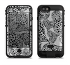 the black and white spotted hearts  iPhone 6/6s Plus LifeProof Fre POWER Case Skin Kit