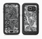 The Black and White Spotted Hearts Full Body Samsung Galaxy S6 LifeProof Fre Case Skin Kit
