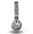 The Black and White Spotted Hearts Skin for the Beats by Dre Mixr Headphones