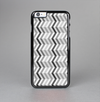 The Black and White Thin Lined ZigZag Pattern Skin-Sert Case for the Apple iPhone 6 Plus
