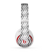 The Black and White Thin Lined ZigZag Pattern Skin for the Beats by Dre Studio (2013+ Version) Headphones