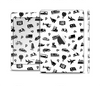The Black and White Travel Collage Pattern Skin Set for the Apple iPad Mini 4
