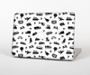 The Black and White Travel Collage Pattern Skin for the Apple MacBook Pro Retina 15""
