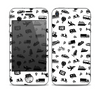 The Black and White Travel Collage Pattern Skin for the Apple iPhone 4-4s
