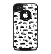 The Black and White Travel Collage Pattern Skin for the iPhone 4-4s OtterBox Commuter Case