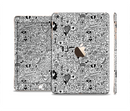 The Black and White Valentine Sketch Pattern Full Body Skin Set for the Apple iPad Mini 3